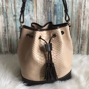 Dooney & Bourke Python Caldwell Bucket Bag NWOT